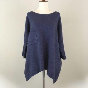 Sundance Wool Blend Blue Tunic Sweater